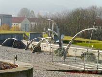 Noch einen Brunnenskulptur vorm Humboldtbau